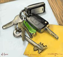 still life keys by ali-tunc