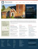 Ascension Church Homepage Mockup by onyxlovechild