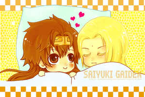 Goku and Sanzo by Panda-Prodigy