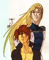 Rikki and Iason colored PSP7 by TimeyWimeyWearables