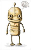 Machinarium - Crayon Heart by Kumagorochan