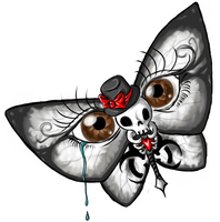 Tattoo - Skull butterfly by KurCoba