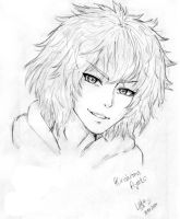 -drawing- Kirishima Ayato by Sushi-chanAnoyo