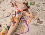 Mixed Media Nude-Film 03 by pHotOPuNK82