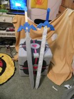 Master Sword, New and Old by ElizzaBeast