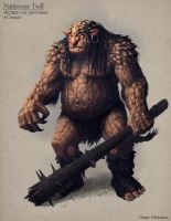 Nattircone Troll - Creature concept by Cloister