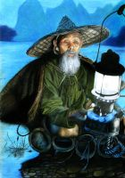 Vietnamese fisherman by Gunchixs