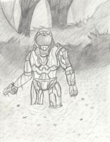 Halo Spartan. by CaffeinatedSketches