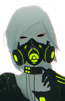 gas mask by nyacayn