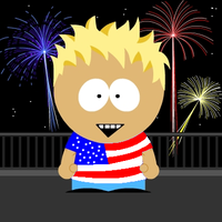 SATW America South Park Style by ABtheButterfly