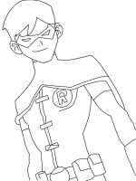 Young Justice Robin Coloring Page by TheWritingGamer