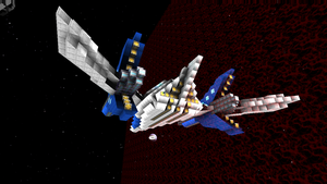 starmade Star-fox Arwing rear by lordkalem