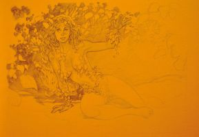 Poison Ivy Commission W.I.P by StephaneRoux