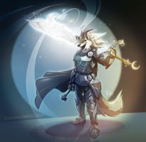 Roland the wolf knight -(Commission)- by Dragibuz