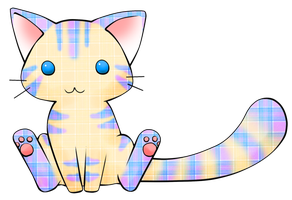 Plaid Kitty Adoptable: OPEN by MuffinAdopts