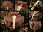 Belt bag with purses by Noir-Azur