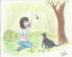 Trade1: Elouise and Blackie by Lola-in-the-Black