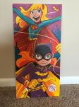 Batgirl Supergirl Painting by mikemaihack