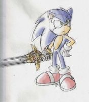 Sonic and his sword V2 by adamis