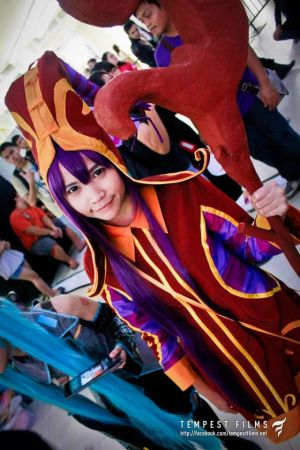 Lulu, The Fae Sorceress from League of Legends.