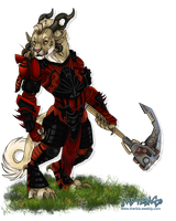 IC - Charr Knight + VID by NathalieNova