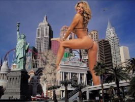 Giantess Jennifer Lee in Vegas by JingleJangleJam