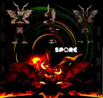 SPORE --- Demon by cristallic-suicune