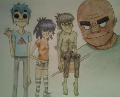 Gorillaz :: DoYaThing by LuCkYrAiNdRoP