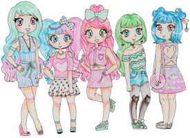 Pastel Girls by pastelcoven