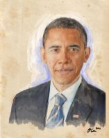 Obama Oil Painting by my-nightmare-reborn
