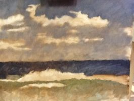 Outer Banks Oil Study by theoddlydifferentone