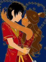 Zutara Always with you-Colored by paintedbluerose