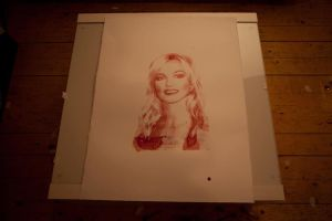 Britney Spears Silkscreen Print In Human Blood by CarlWicker