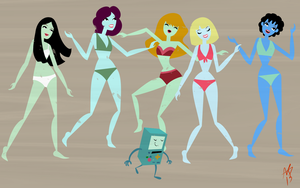BMO and Bikini Babes by amkili