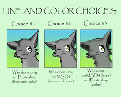 Line and Color Choices by CeruleanOasis