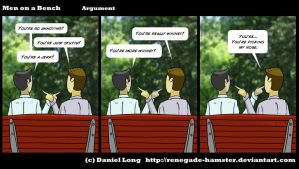Men on a Bench - Argument by Renegade-Hamster