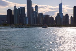 View to Chicago downtown by olgaFI