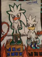 Modern and Classic Silver The Hedgehog by Fox-On-Fire