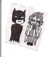 Batty and Joker so cute by JokerAgentChaos