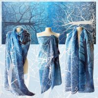 Pareo silk scarf - for sale by MinkuLul