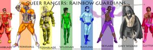 QR Rainbow Guardian lineup by xspacedreamerx