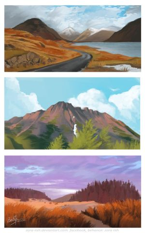 Landscapes studies  by Zora-Iish