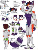 Mirexa Ref Sheet (AGAIN) by InvaderSonicMx