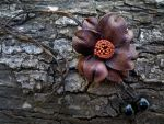 Leather Rose by Sopisa-jewelry
