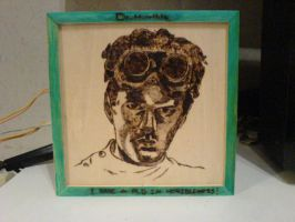 Dr. Horrible Pyrography by skullfaced
