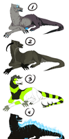 Demon Hound Adoptables SOLD OUT by gr-ay