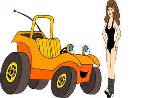 Debbie (Speed Buggy) in Flashdance by darthraner83