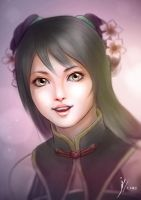 Portrait of Guan Yin Ping by Fihril