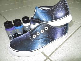 Self made Galaxy Shoes by expectatinqs