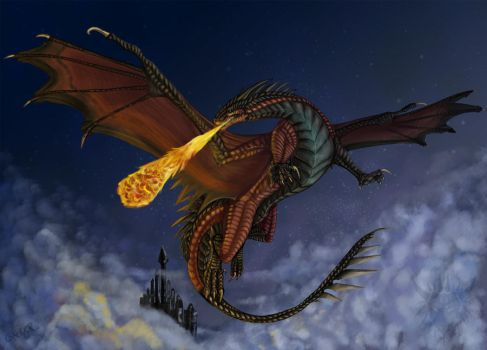 Castles in the sky by Galidor-Dragon